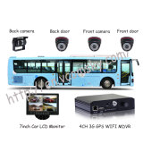 4 CH GPS/3G Car Mobile DVR com o gravador de vídeo do H. 264 Compression, Use para Auto/Truck/Bus/Taxi