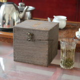 Special Customized Eco - Friendly Wooden Cigar Box in Red Color