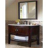 Vanité debout de salle de bains d'étage bon marché en bois solide