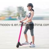 Rosafarbener faltbarer zwei Rad-elektrischer Roller des Kohlenstoff-Faser-Skateboard-6.3kg
