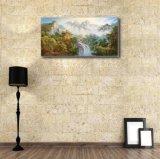装飾的な絵画の山の滝