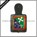 Значок полиций неподдельной кожи для приложения бумажника (BYH-10719)