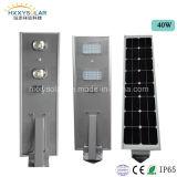 Im Freien IP65 Solar-LED helle integrierte Solar/Solar-Garten-Lampe der straßenlaterne-6W-100W mit Lithium-Batterie