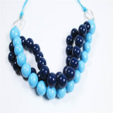 新しいデザイン青い調子のアクリルのビードの方法宝石類のネックレス