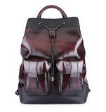 Ежедневный Backpack компьтер-книжки кожи сбор винограда большой емкости пользы 2017 с Tote