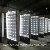 Rectángulo ligero de autobuses del término de Mupis del vinilo LED del movimiento en sentido vertical de los anuncios poliméricos solares al aire libre de Muppy