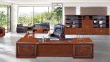 grand bureau d'écriture classique à extrémité élevé avec le tiroir