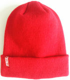 Chapéu bordado forma do Beanie da borda da listra (S-1066)