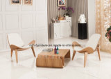 Cadeira de madeira do escudo da sala de estar clássica moderna de Hans Wegner do desenhador