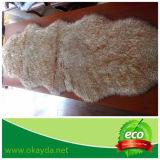 Australische Schaffell-Doppelt-Wolldecke mit kundenspezifischer gefärbter Schnee-Spitze-Farbe für Hauptdekoration