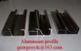 Profils en aluminium d'extrusion avec la couleur de Champagne pour le guichet en aluminium dans Shandong Chine
