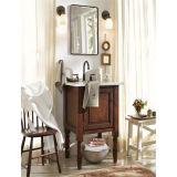 Vanité debout de salle de bains d'étage en gros en bois solide