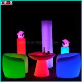 Nachladbare Farbe, die LED-Tisch und Stuhl mit Fernsteuerungs ändert