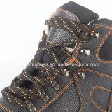 Zapatos de seguridad de cuero industriales con el certificado Snb1070 del Ce
