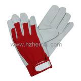 革庭の手袋の女性園芸作業手袋