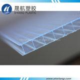 Panneau creux en polycarbonate transparent avec protection UV 50um