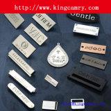Étiquette d'habillement en métal d'étiquette de logo de marque de sac à main de sacs d'étiquettes