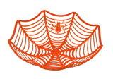 Plastikhalloween-Spinnen-Web-Bassins (PM192)
