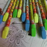 Crayon en bois noir de estampage chaud avec la gomme à effacer