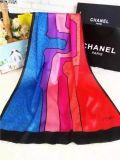 Bufanda del acrílico del modelo de la raya del color sólido