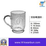 Tazas sopladas del vidrio de cerveza del fútbol con la cristalería Kb-Hn0322 de la maneta