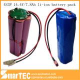 Li-ione di alta qualità Battery di 14.8V 4s3p 7.8ah con il PCM per il LED Lighitng