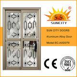 Portes en verre en aluminium commerciales classiques