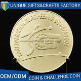 Moneta su ordinazione di sfida del metallo dell'oro di marchio