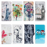 iPhone 6을%s OEM Pattern Beautiful PU Leather Mobile 또는 Cell Wallet Filp Print Phone Cover Case