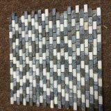 Los chinos tejen el mosaico gris, azulejo de mármol oscuro de Emperador