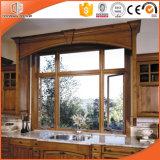 La soldadura inconsútil del estilo elegante articula la ventana de la aleación de aluminio, ventana de aluminio revestida de madera del marco del estilo de América