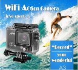 a tecnologia impermeável da alta qualidade ao ar livre larga da câmera da ação do ângulo de vista 1080P pode alcangar a profundidade de 50m da água
