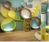 高品質木は子供の靴店の家具のための靴の棚をからかう