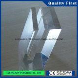 Folha de vidro plástica transparente do plexiglás barato do competidor do acrílico/PMMA