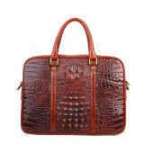 Роскошный портфель мешка компьтер-книжки кожи с сохранённым природным лицом Brown Croc конструкции