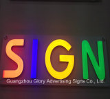 Letreros iluminados do sinal de resina epoxy ao ar livre