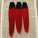 """capelli #Red chiusura di trama dei capelli dell'onda del corpo dei capelli umani di 26 """" Non-Remy"""