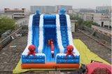 O gigante inflável molhado inflável simples da corrediça da corrediça de água da classe caçoa a corrediça de água