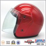 かわいい漫画の開いた表面オートバイまたはスクーターまたはモーターバイクのヘルメット(OP212)