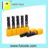Coupeur de fraisage solide d'outils de carbure de tungstène pour le fer de moulage