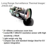 De Thermische Camera van het Toezicht van de lange Waaier met de Ononderbroken Zoomlens van 21~420mm
