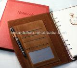 A5 Loose-Leaf тетрадь, тетрадь связывателей кольца, кожаный тетрадь