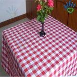 Toalha de mesa de tecido oblongo de tecido de tecido não tecido de poli