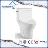 Tocador de cerámica del armario de una sola pieza de Siphonic del cuarto de baño (AT0100)