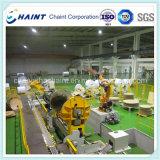 製紙工場の包む機械