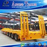 2/3/4/5 d'essieux 50/80/100 tonne de Loaader de lit plat semi de remorque de camion de remorque de remorque inférieure de cargaison à vendre