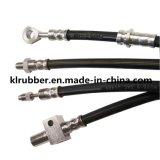Mangueira flexível trançada padrão da borracha de freio hidráulico do SAE J1402/SAE J1401