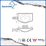 Halb-Vertiefte Badezimmer-keramische Schrank-Bassin-Handwaschende Wanne (ACB4491)