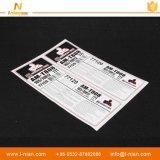 Etiqueta engomada de goma del neumático de los PP del pegamento durable impermeable de encargo de la impresión