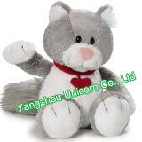 Le CE badine le chat mou de jouet de peluche de léopard de peluche de cadeau